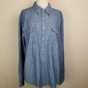 AG Chambray Slim Fit Button Down